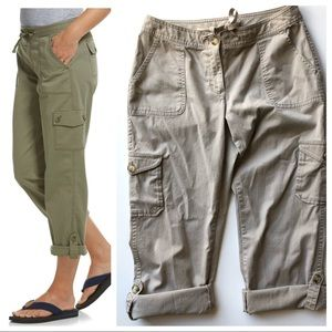 LL Bean Southport Cargo to Cropped in Khaki